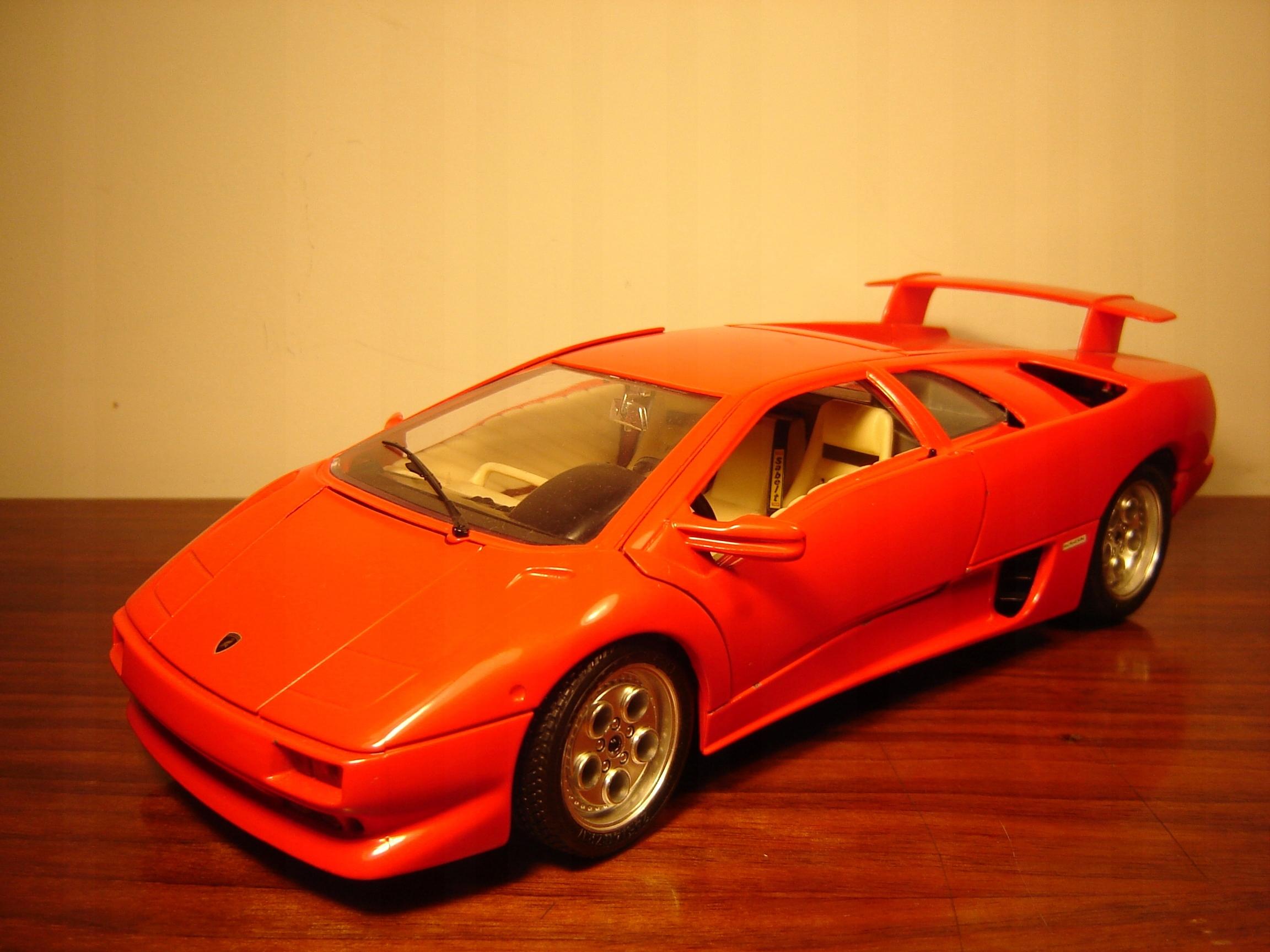 Lamborghini Diablo 1990 Bburago Bez Pudla Czerwony 7521959247