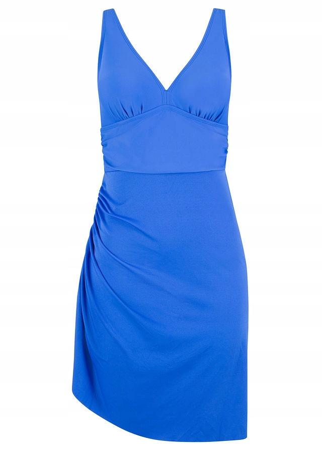 5dcfde2f14 Sukienka kąpielowa niebieski 42 XL 950409 bonprix - 7651305330 ...