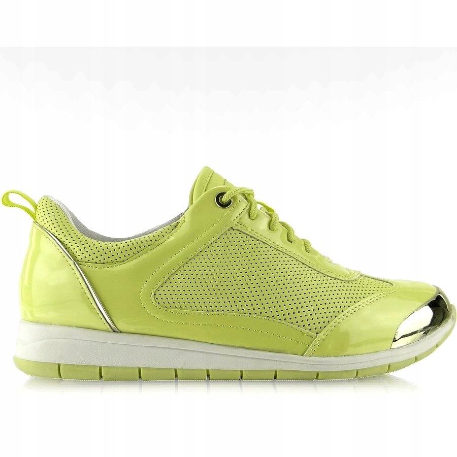 gorący produkt buty do biegania kup popularne Buty sportowe z blaszką Y621 Zielone r.36 - 7633262412 ...