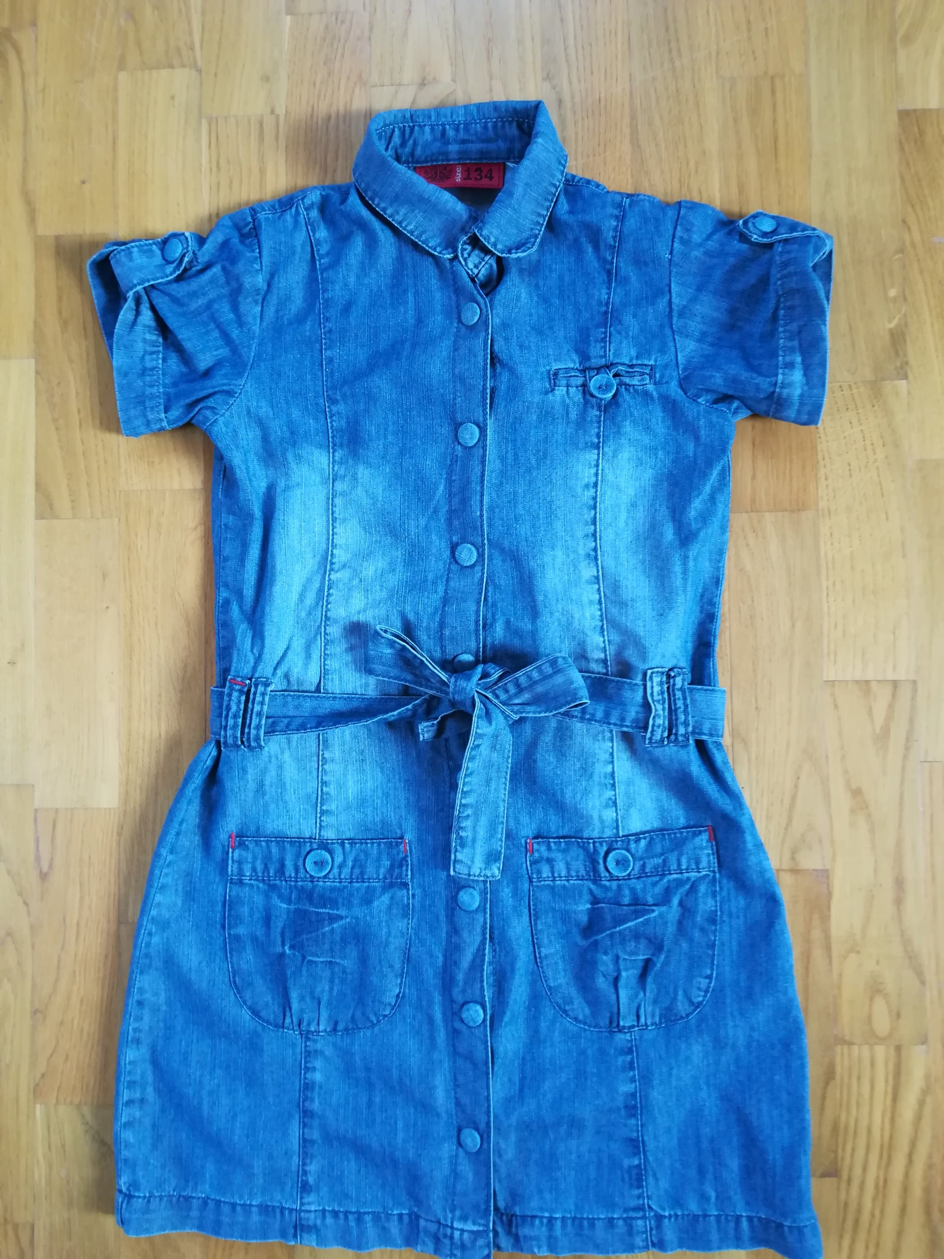 c07299eb06 Świetna sukienka jeansowa COOL CLUB 134 - 7128591889 - oficjalne archiwum  allegro