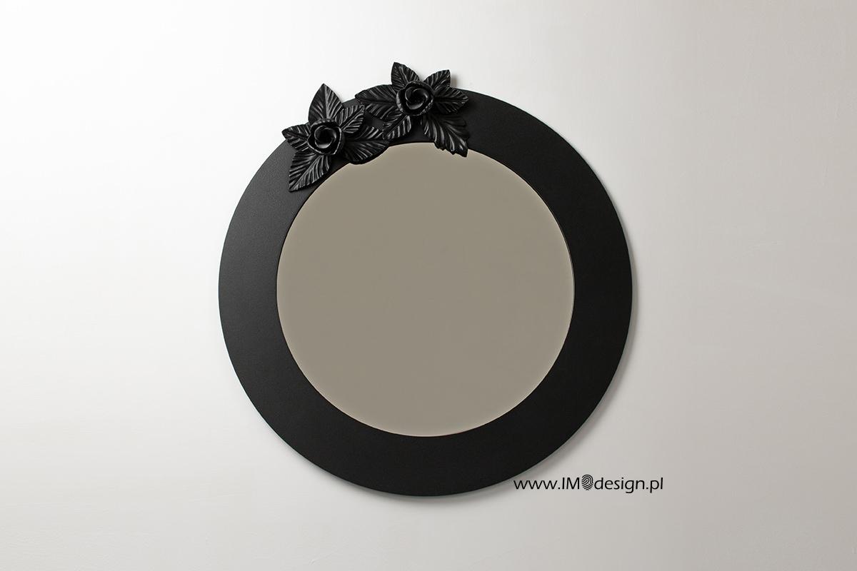 Lustro W Metalowej Ramie Czarne Lustra Dekoracyjne 7175877543