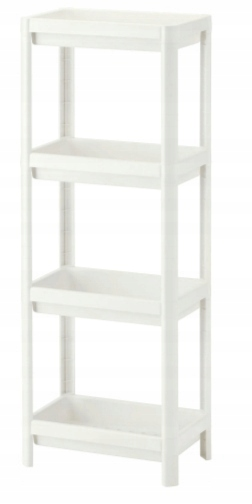 Ikea Vesken Regał Biały 40307866 Nowy łazienka