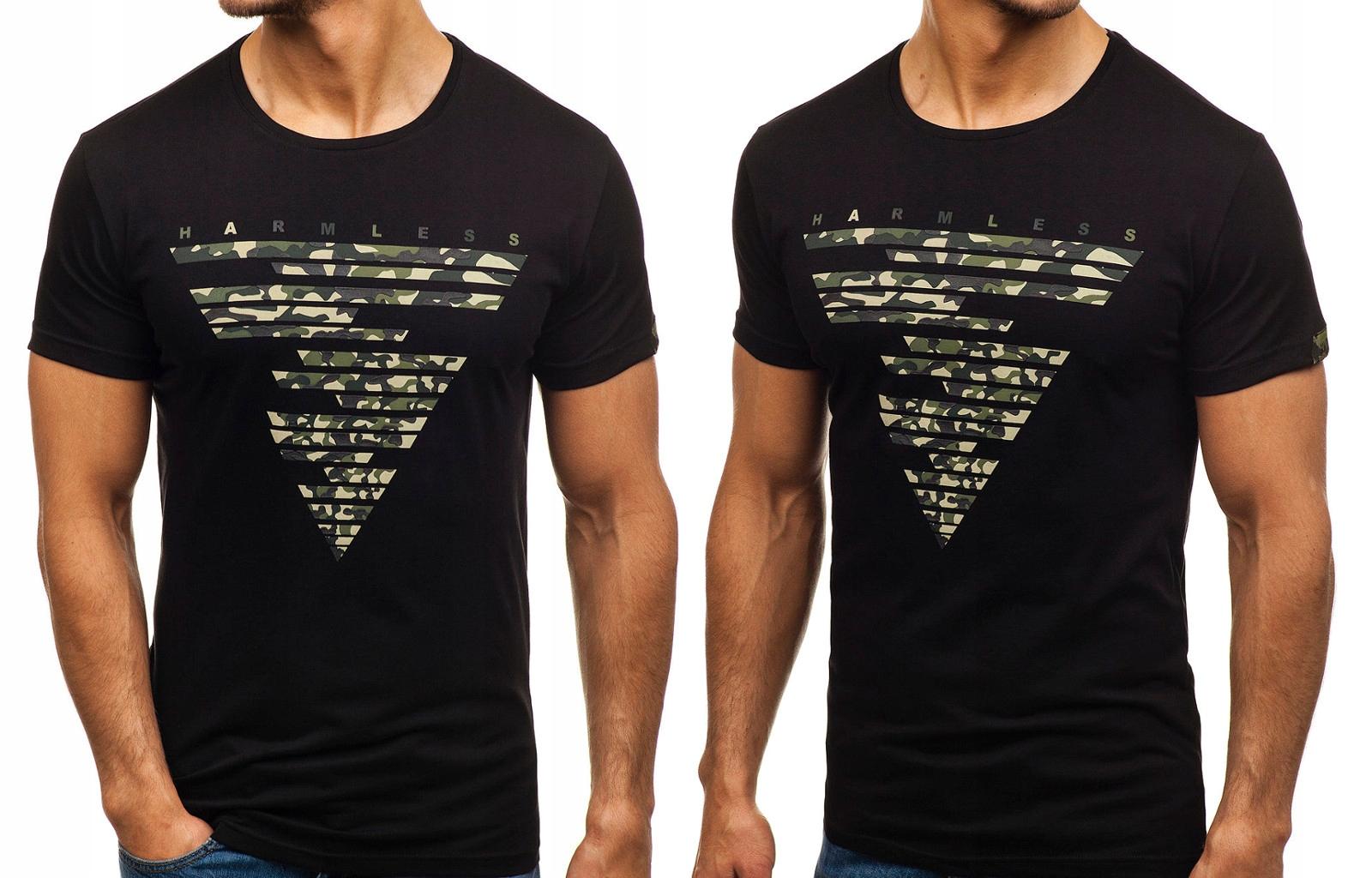 Czarne t shirty męskie z nadrukiem oficjalny sklep allegro