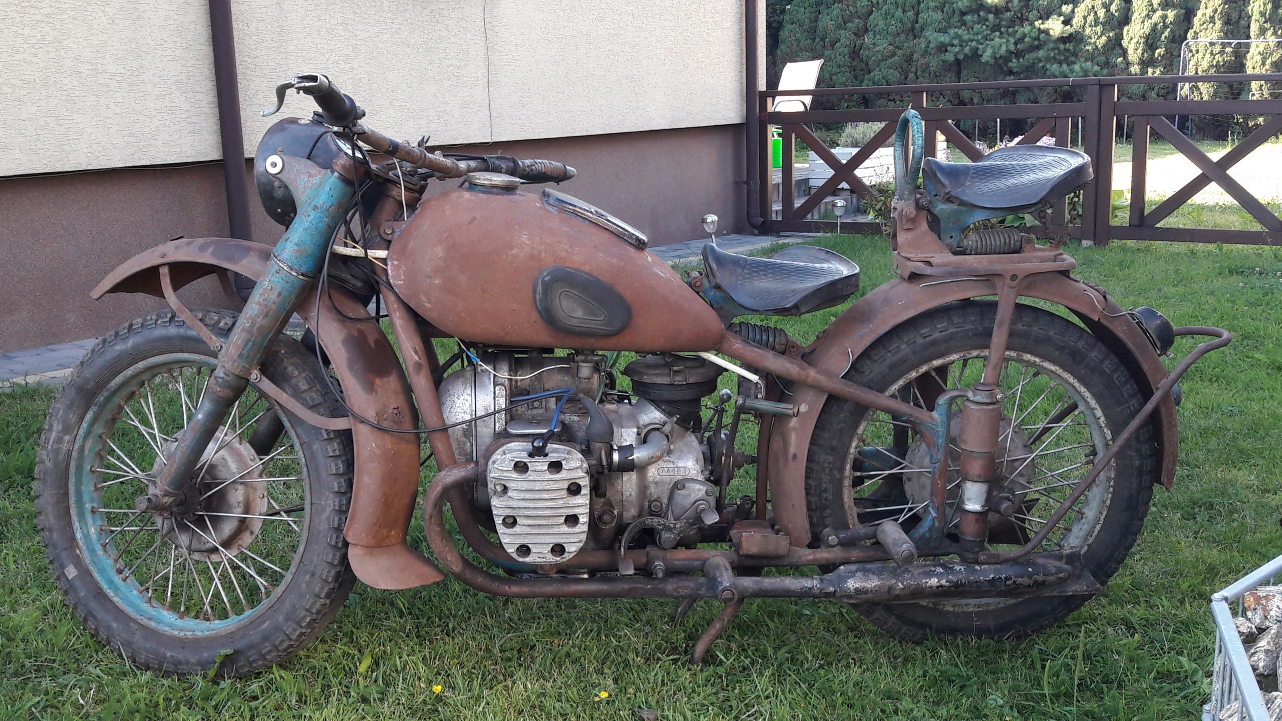 Motocykl M 72 Z Wózkiem Bocznym Nie Bmw Zis 7439587851