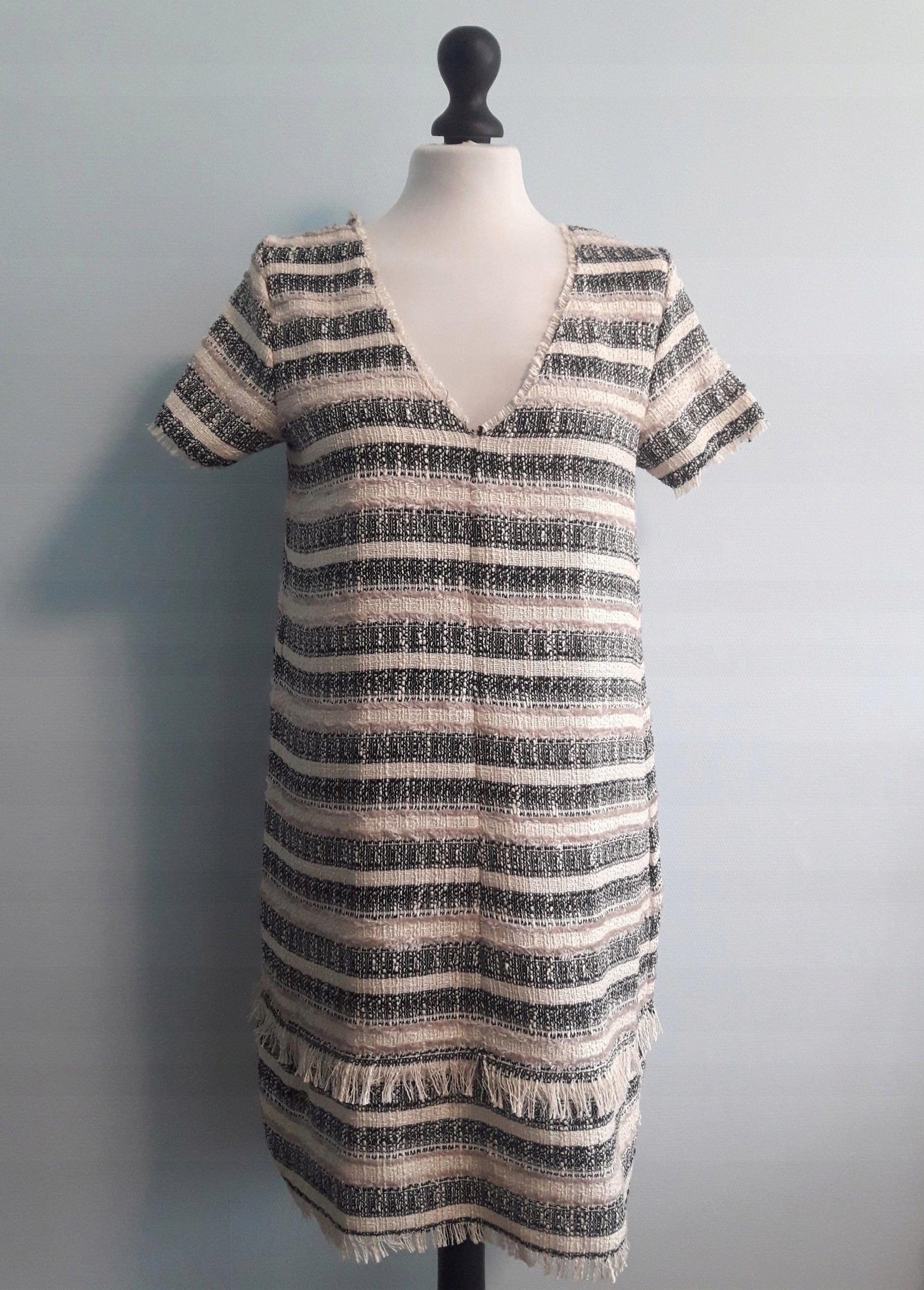 c4461d9ead Sukienka w paski. Zara - 7428979209 - oficjalne archiwum allegro