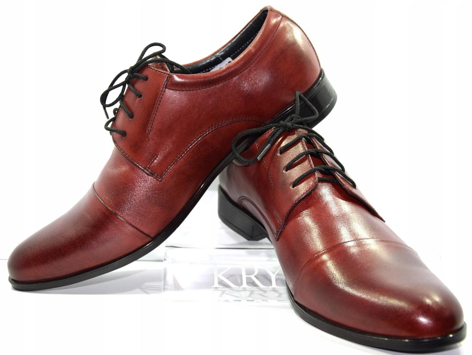 b63781b406de1 Obuwie męskie polskie buty Moskała bordo 632 R.43 - 7272102592 ...