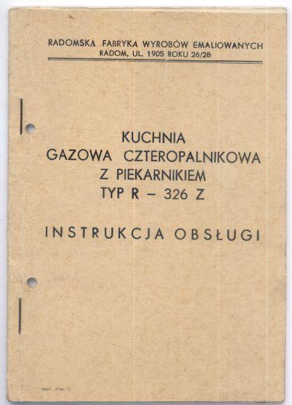 Radom Kuchnia Gazowa Instrukcja 7123221373 Oficjalne