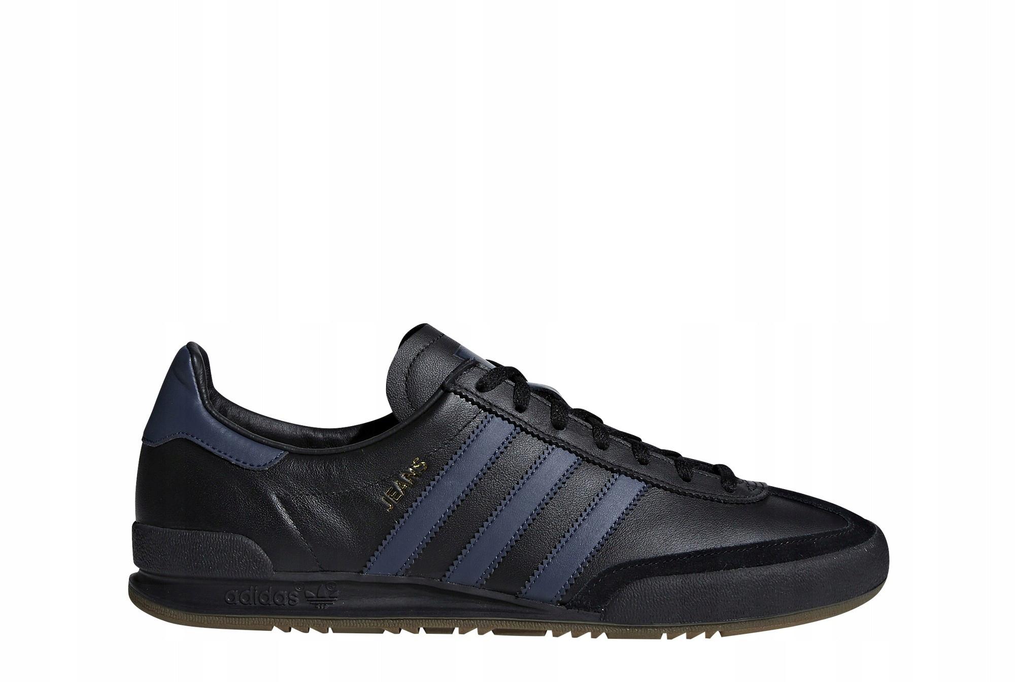 Adidas buty skórzane JEANS brązowe ze skóry 43 13