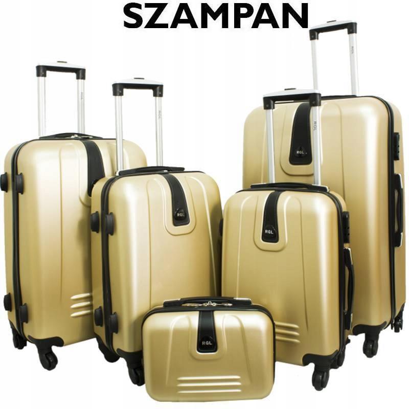 736caee35c956 Zestaw walizek 4w1 + Kuferek - Szampan - 7289952194 - oficjalne ...