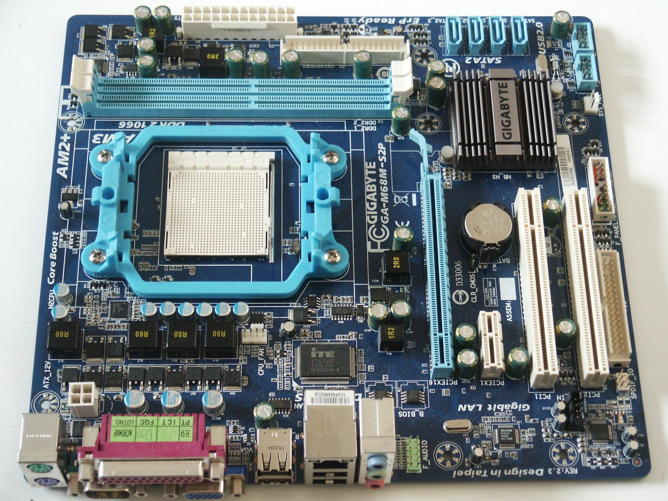 Płyta Gł³wna Gigabyte GA M68M S2P DDR2 AM2 AM3 GW