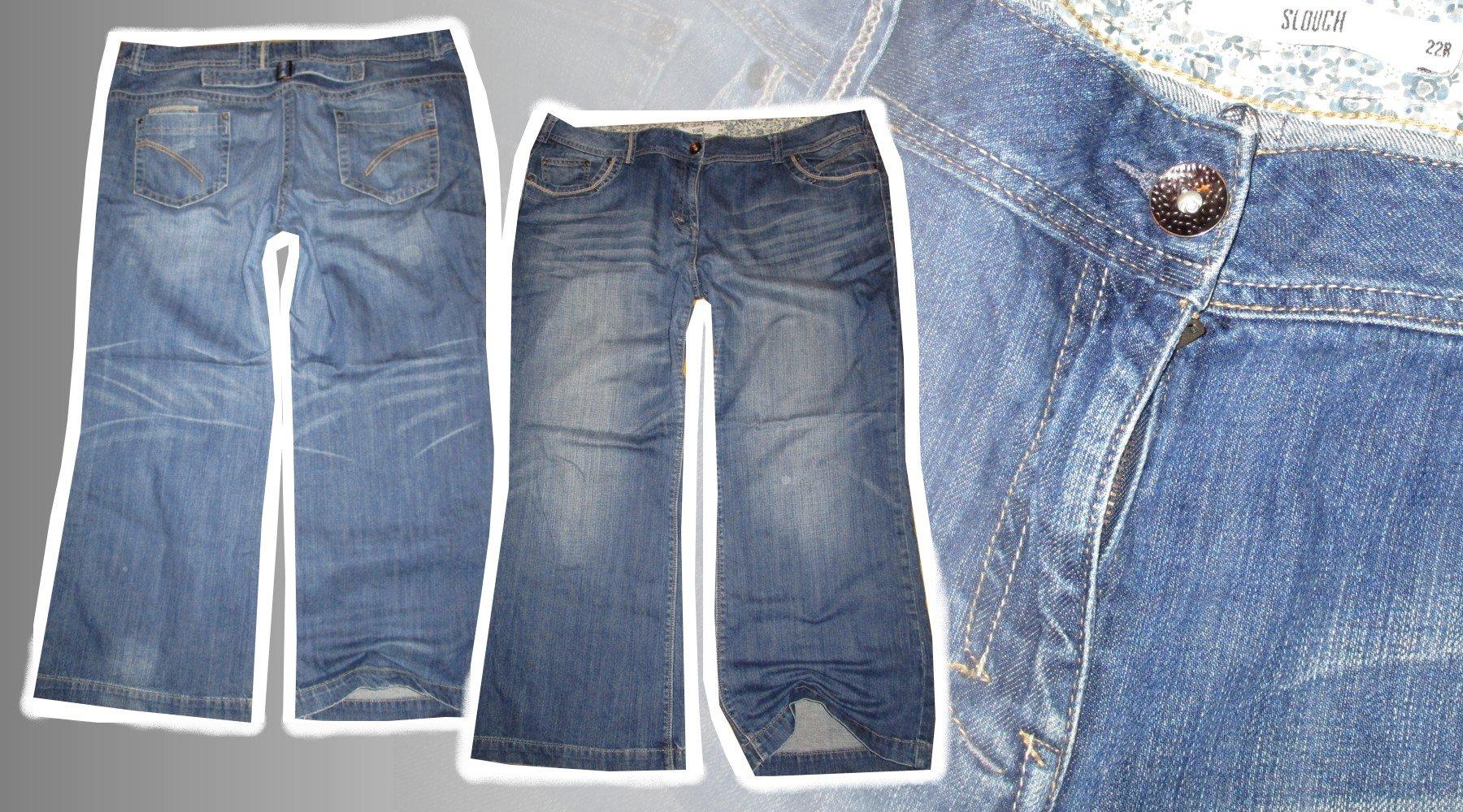 TU Slouch jeasny spodnie  22(50)
