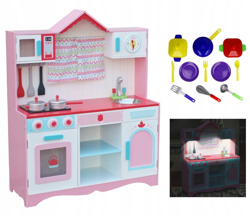 Kuchnia Drewniana Dla Dzieci Oswietlenie Led Y1z 7400531355