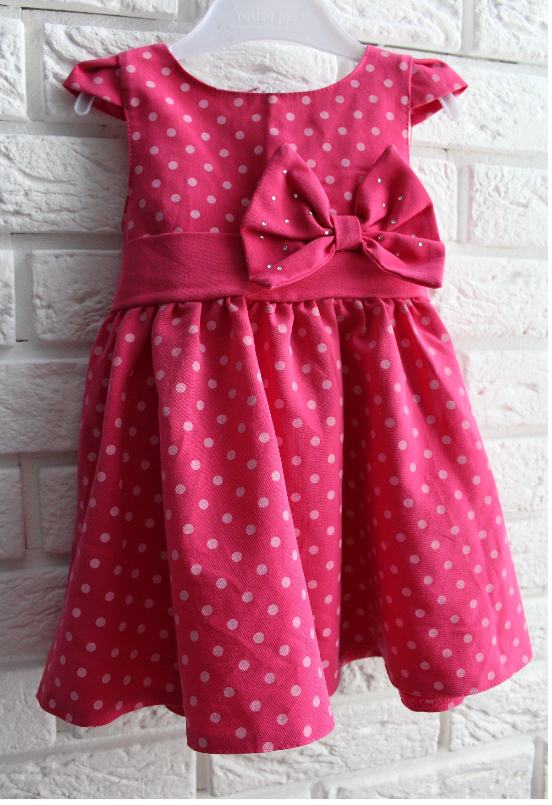 8ce9cb7354 Sukienka w groszki 86 cm komunia