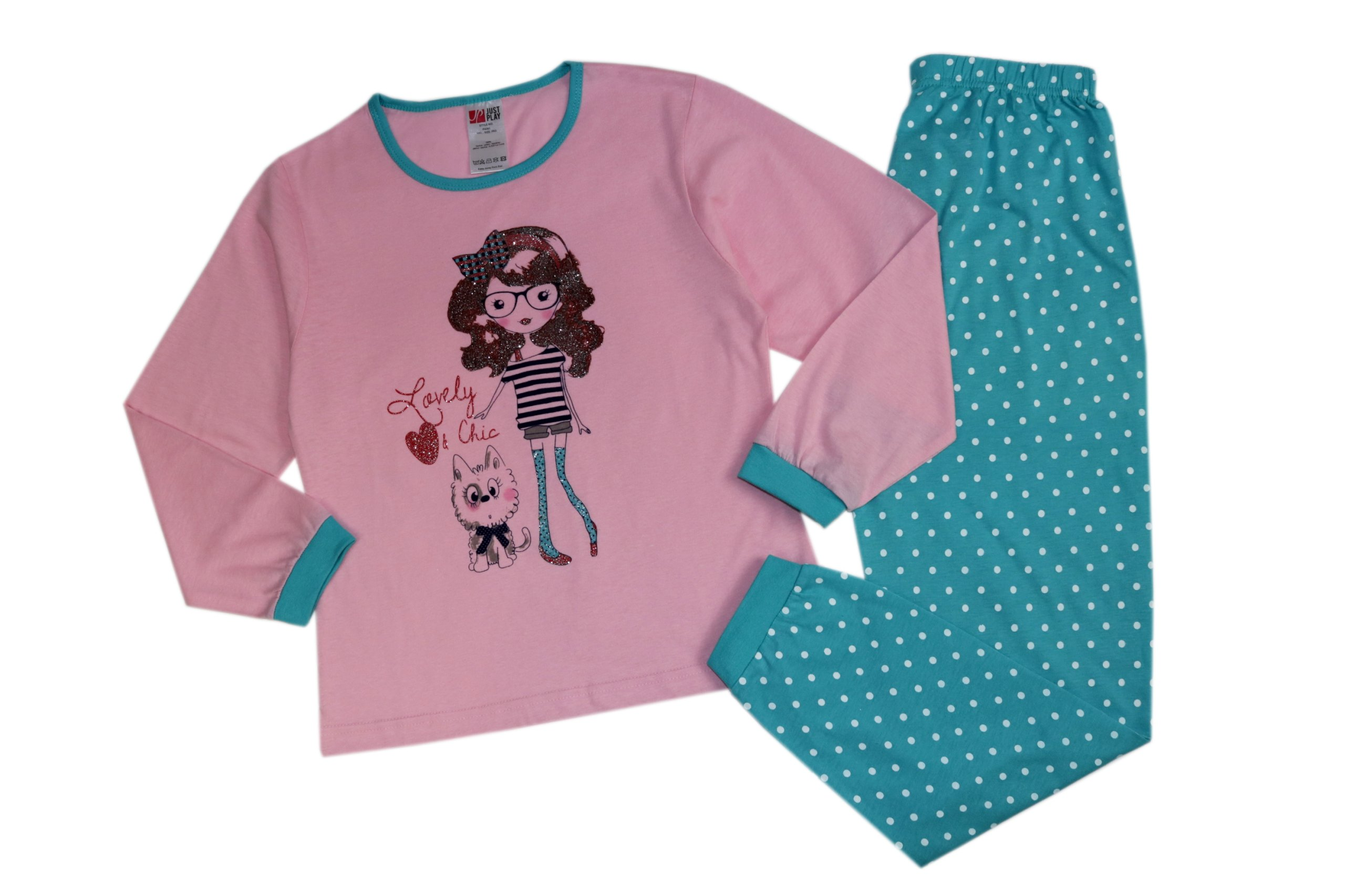 08bc5ee3cf5aee Piżama dziewczęca długi rękaw + spodnie 158-164 - 7130121927 ...