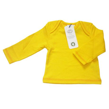 Bluzka długi rękaw BIO bawełna Canboli 3-6 m żółta