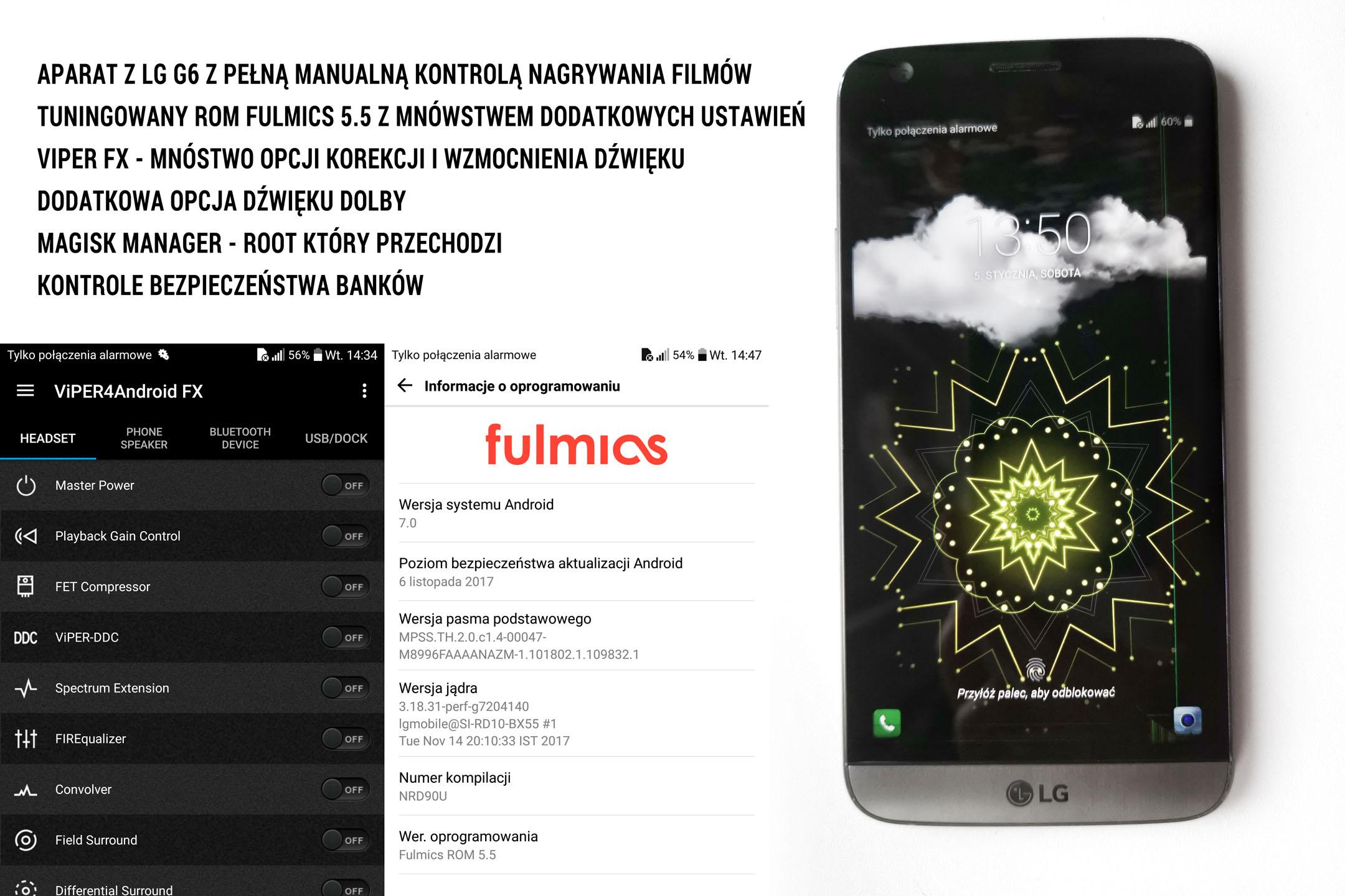 Telefon LG G5 - tuningowany - ekran do wymiany