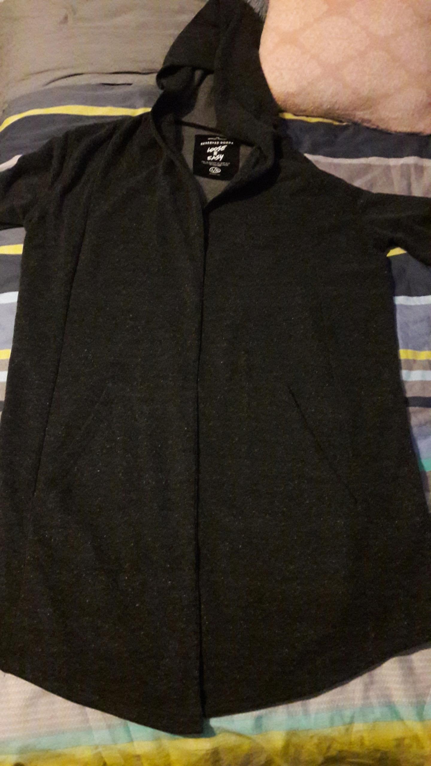 Sweter rozpinany długi RESERVED L/XL szary + buty