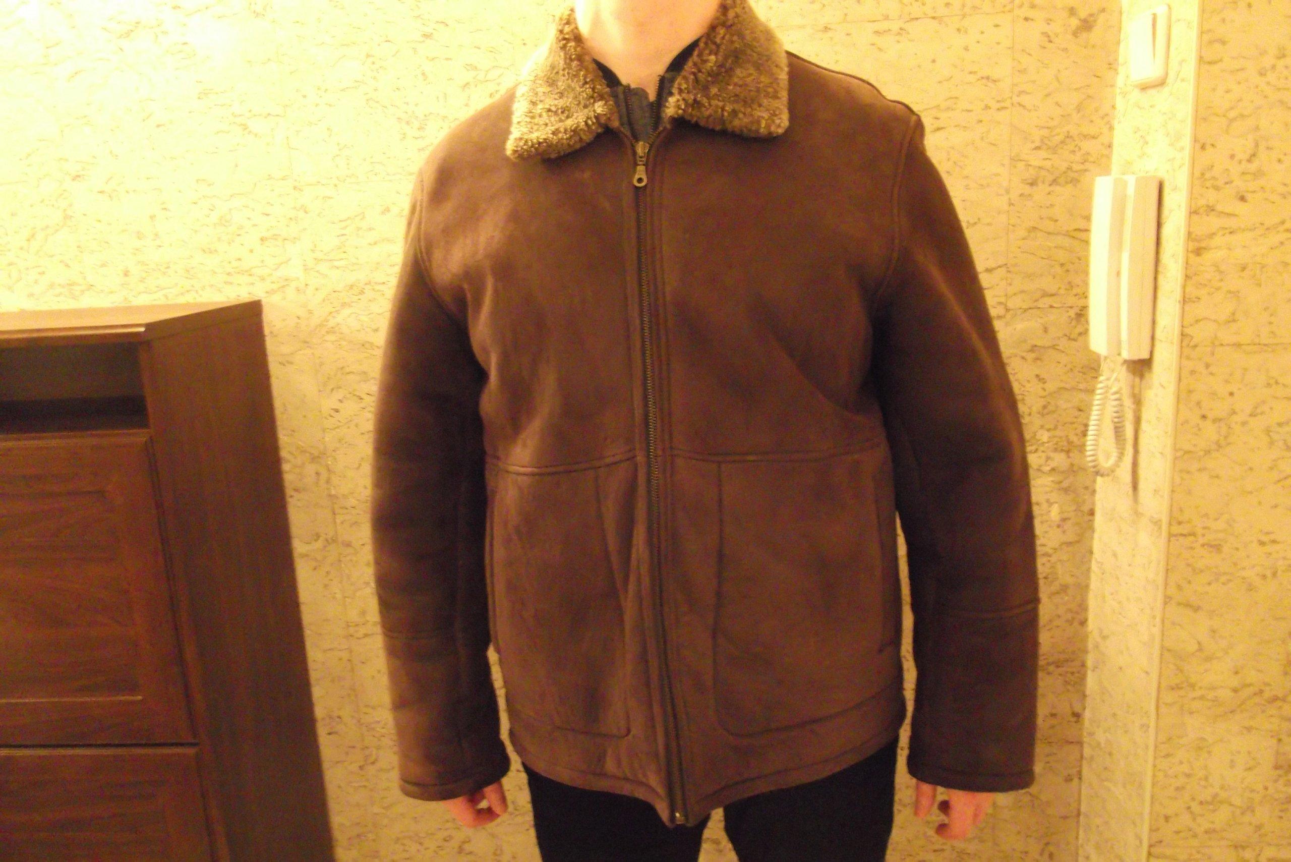 5003bde9e4bbc Kurtka skórzana kożuch męski rozmiar 52 - 7109244789 - oficjalne ...