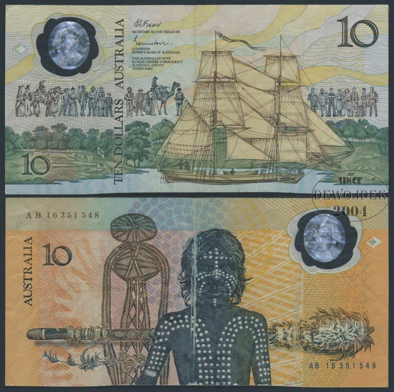 MAX - AUSTRALIA 10 Dollars 1988 AB16 POLIMER # F-