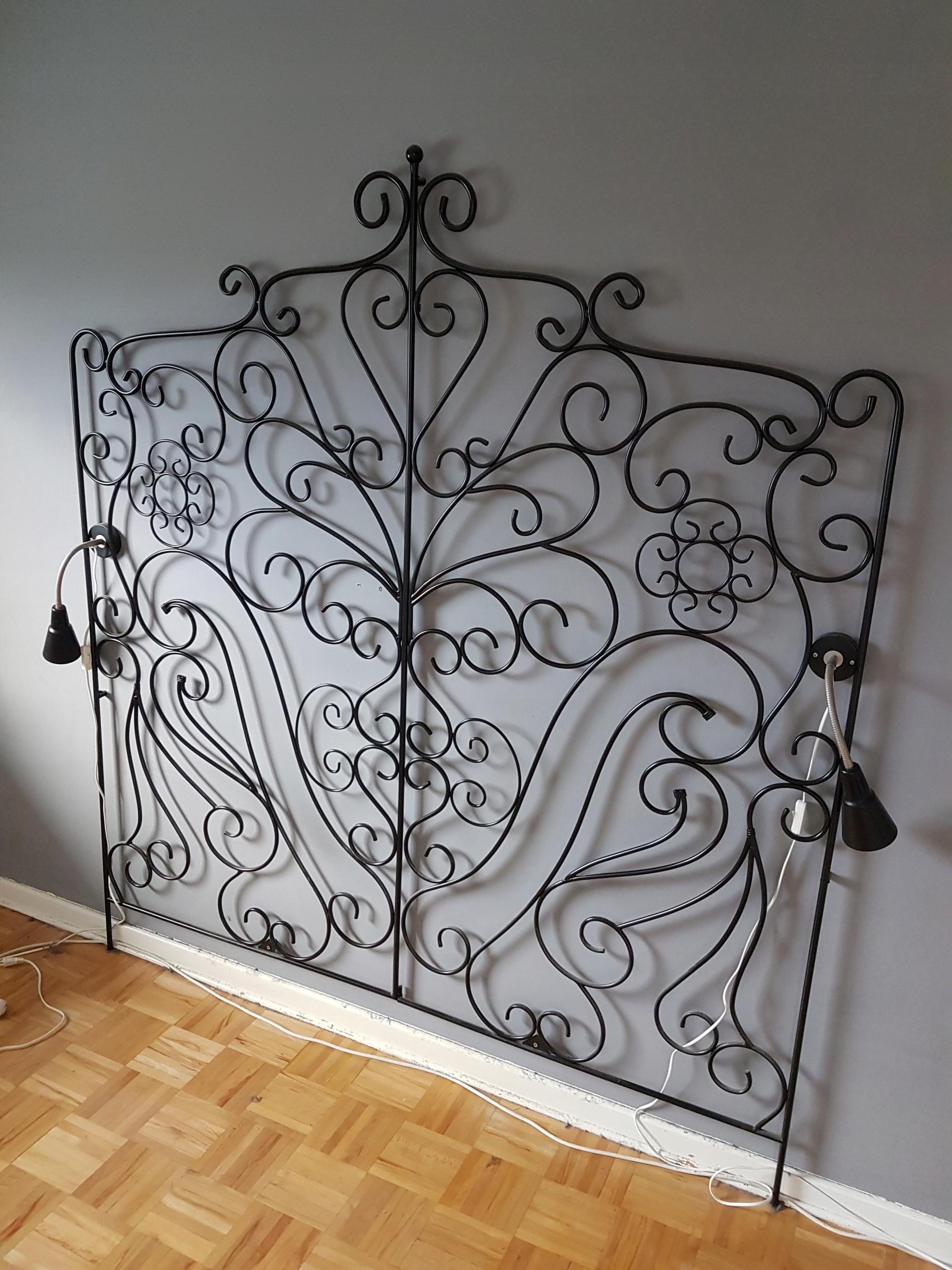 Wezgłowie Zagłówek łóżka Metalowy Design Loft