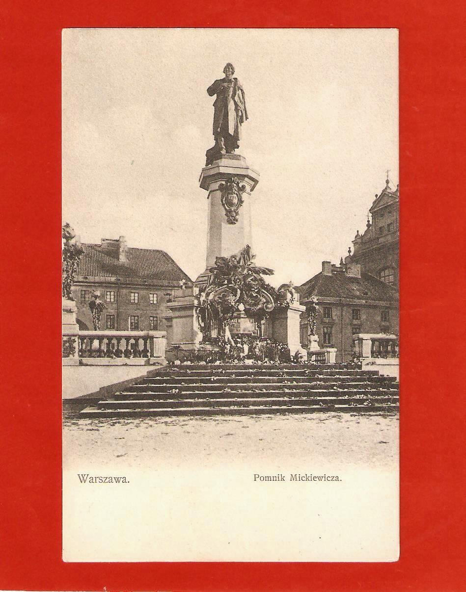 WARSZAWA Pomnik Mickiewicza