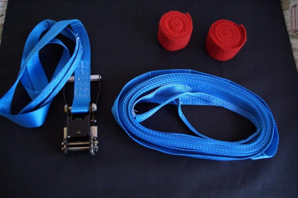 Taśma Slackline niebieska 14m - równowaga, sport