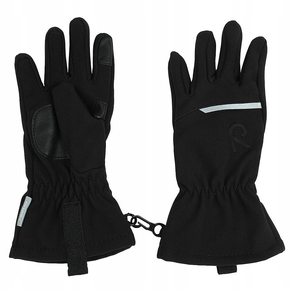 Reima czarne rękawiczki softshell dziecięce r.4