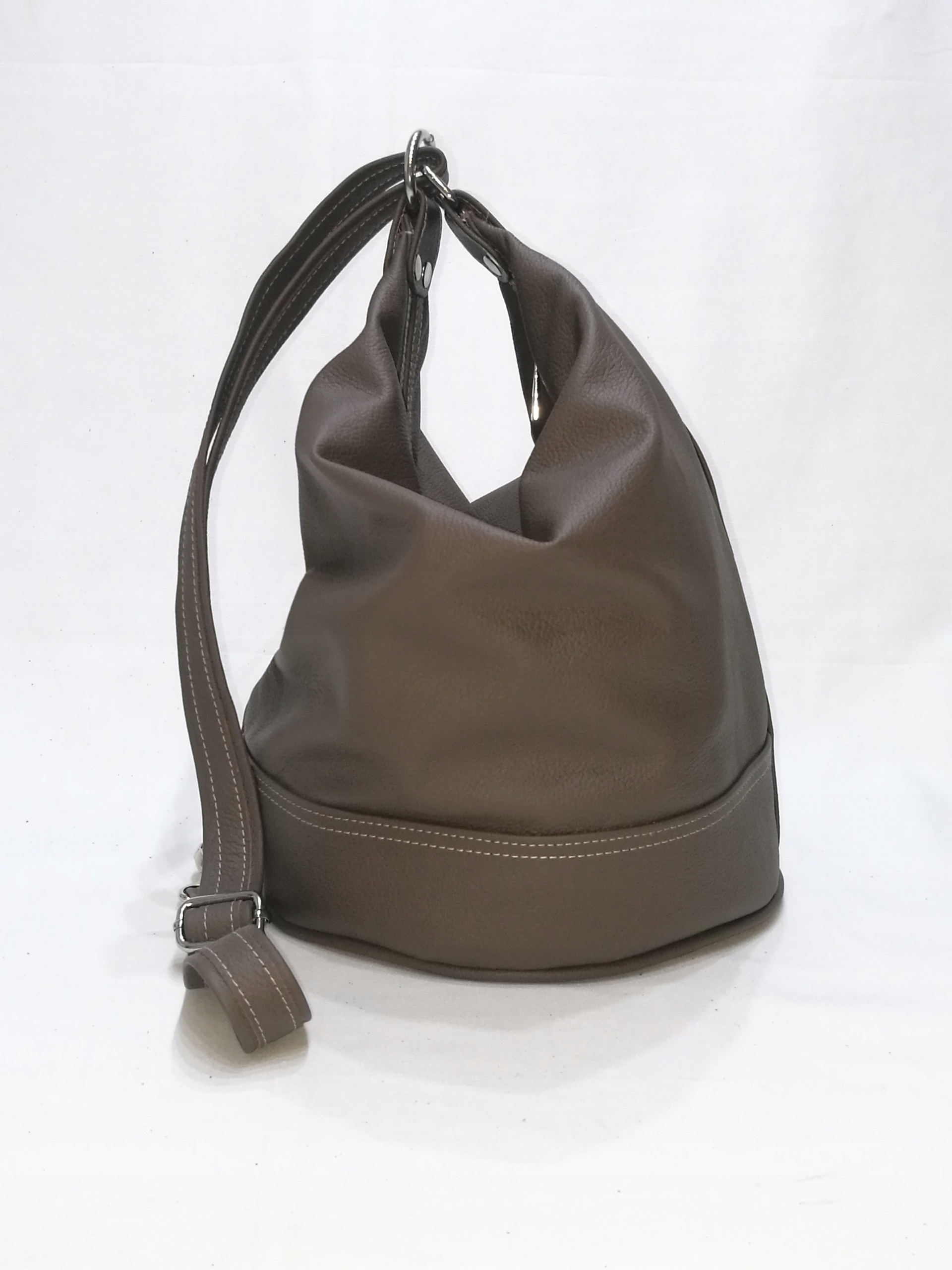 3eb4fb2399a3a Skórzany worko-plecak brąz handmade SQRATORIUM - 7597449501 ...