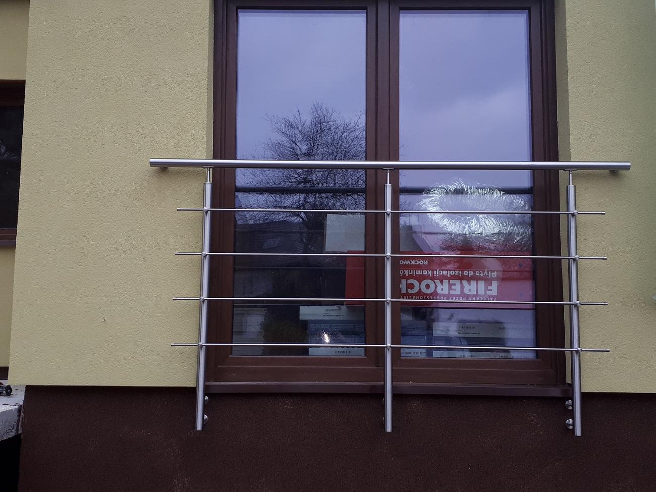 Balkon Francuski Stal Nierdzewna 150 Cm 7244678767