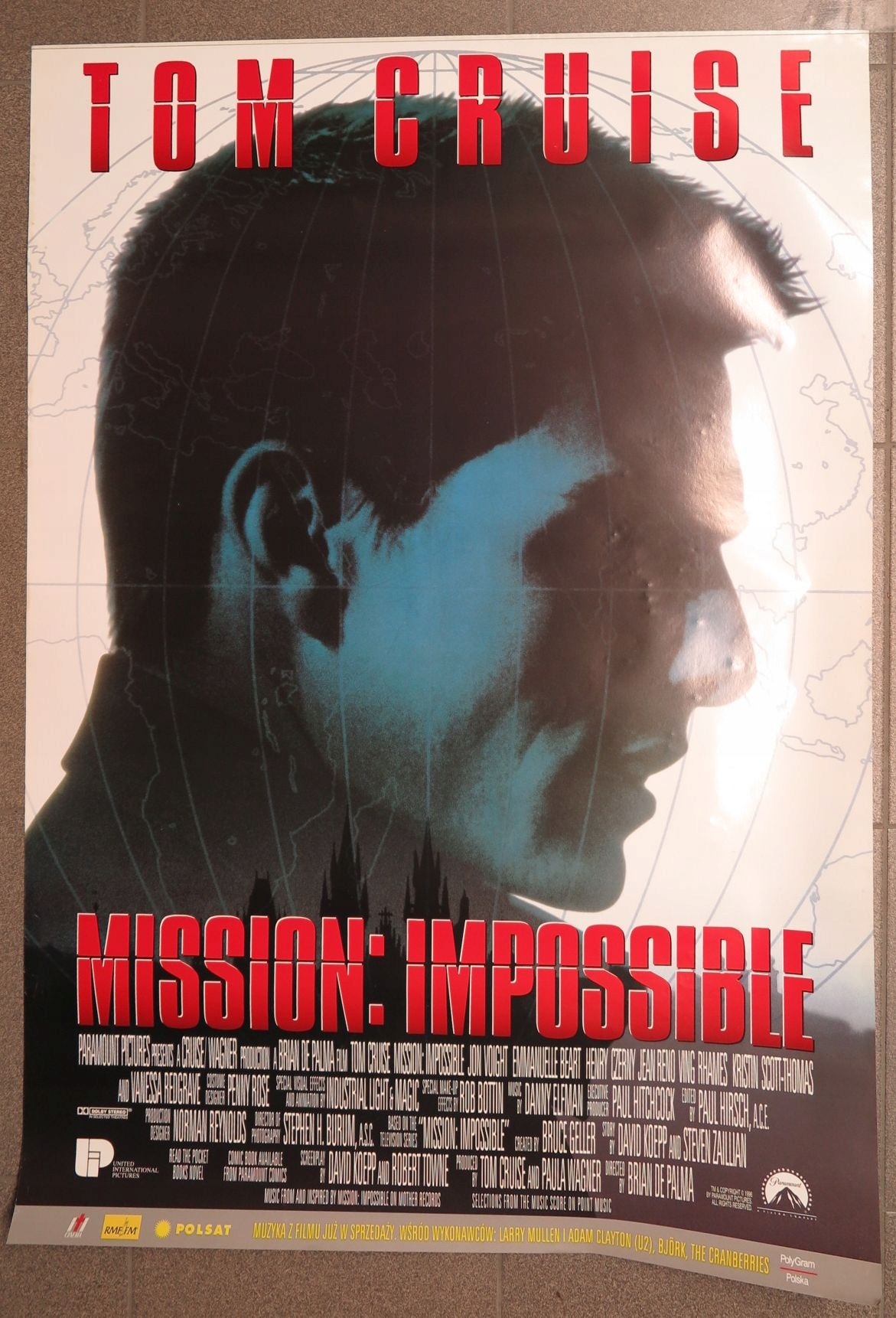 Stary Plakat Filmowy Mission Impossible