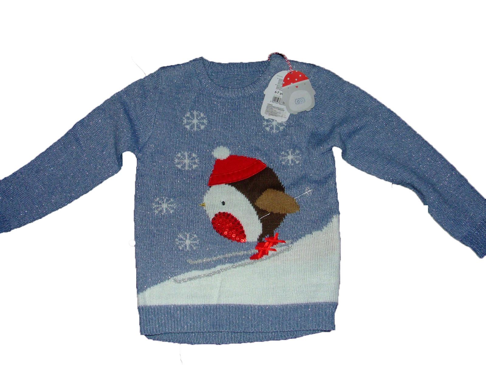 Świąteczny sweter sweterek mothercare 6-7 lat 122