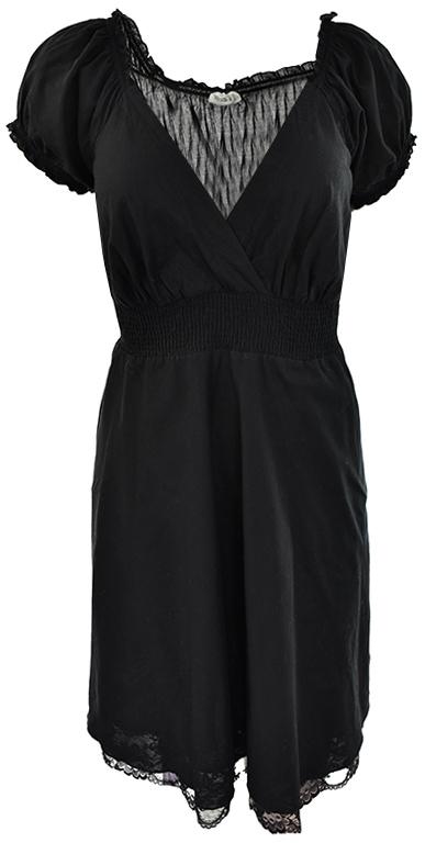 gZ1163 C&A czarna sukienka z koronką 46