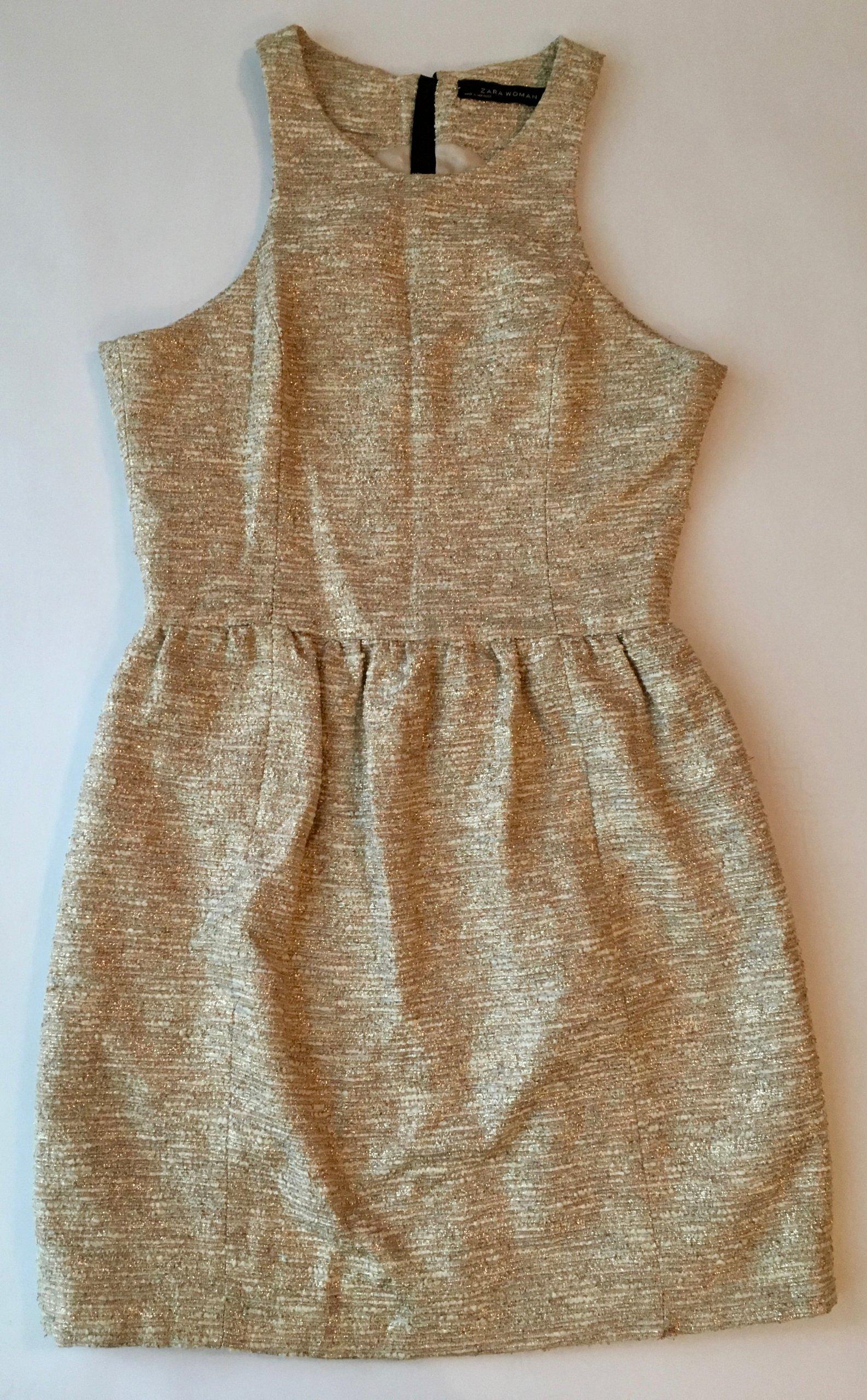 b2d9515ace47 Sukienka złota ZARA 36 - 7128853549 - oficjalne archiwum allegro