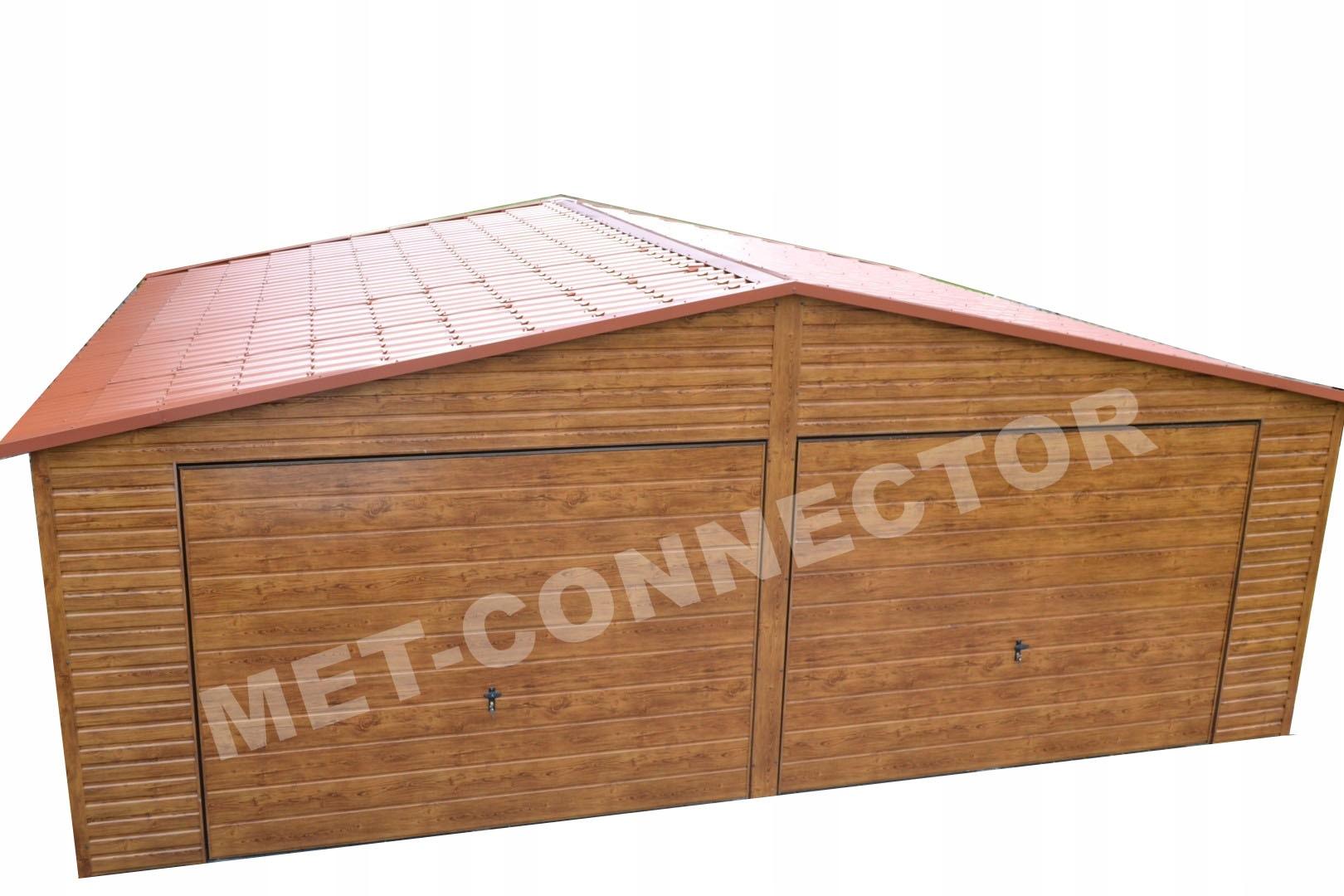 Garaże Blaszane Garaż Blaszany Drewnopodobny 6x7 7483854464