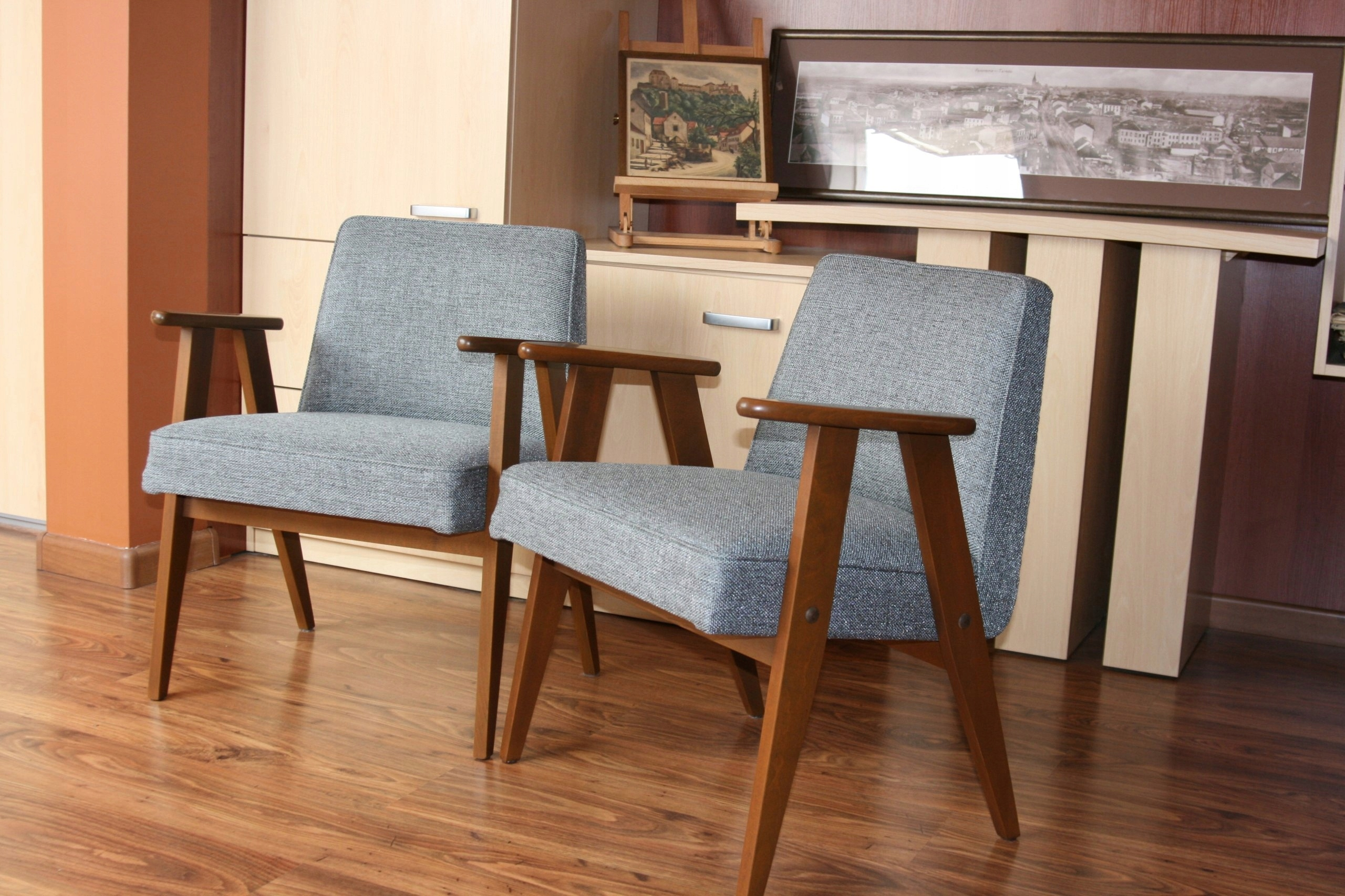 2 Fotele 366 Projj Chierowskipolska Lata 60 Xxw