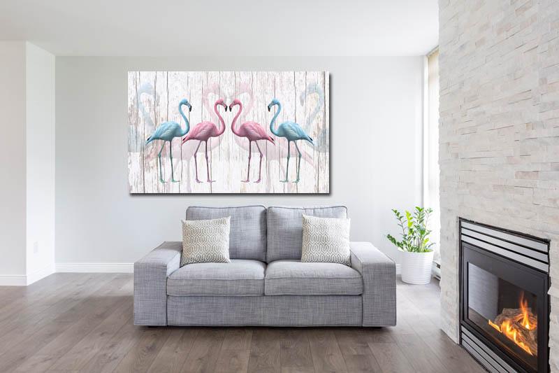 Obraz Flamingi 5 120x70cm Ptak Ptaki Flamingi 7139259969