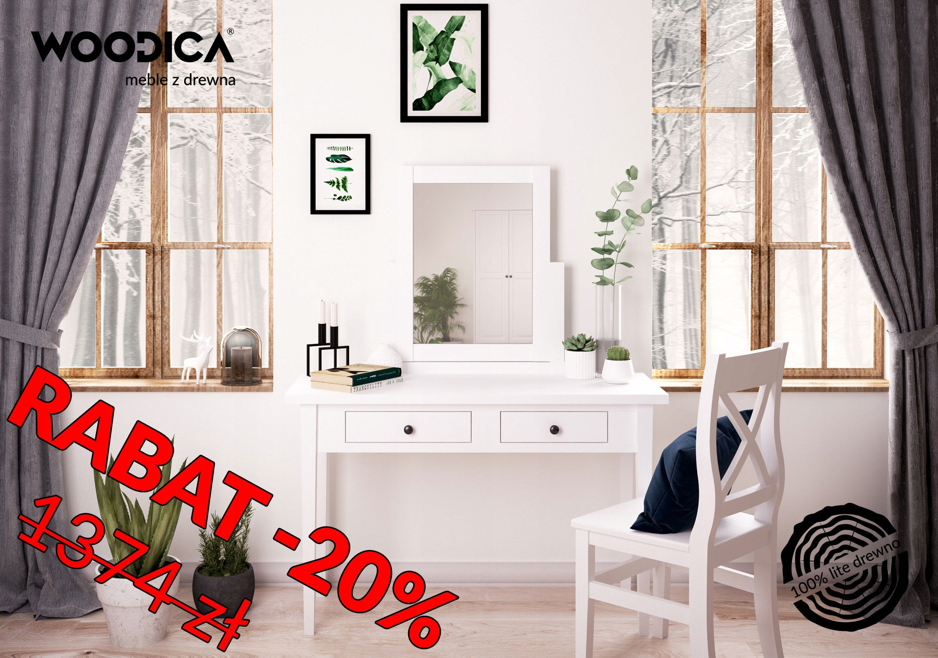 Biala Toaletka Drewniana Sosnowa Parma 60 7137405405 Oficjalne