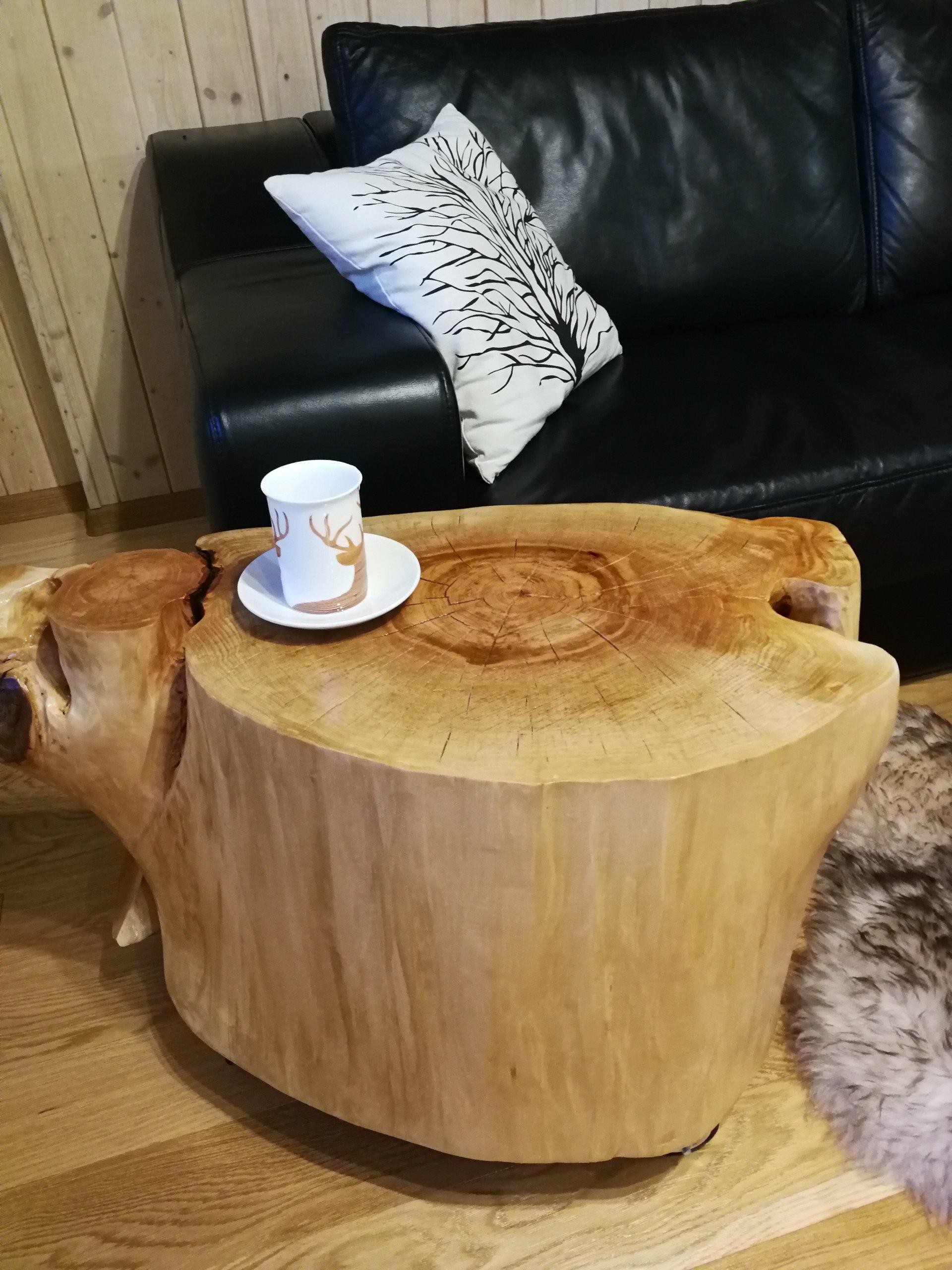 Designerski Stolik Kawowy Z Pnia Drewna 7367848750