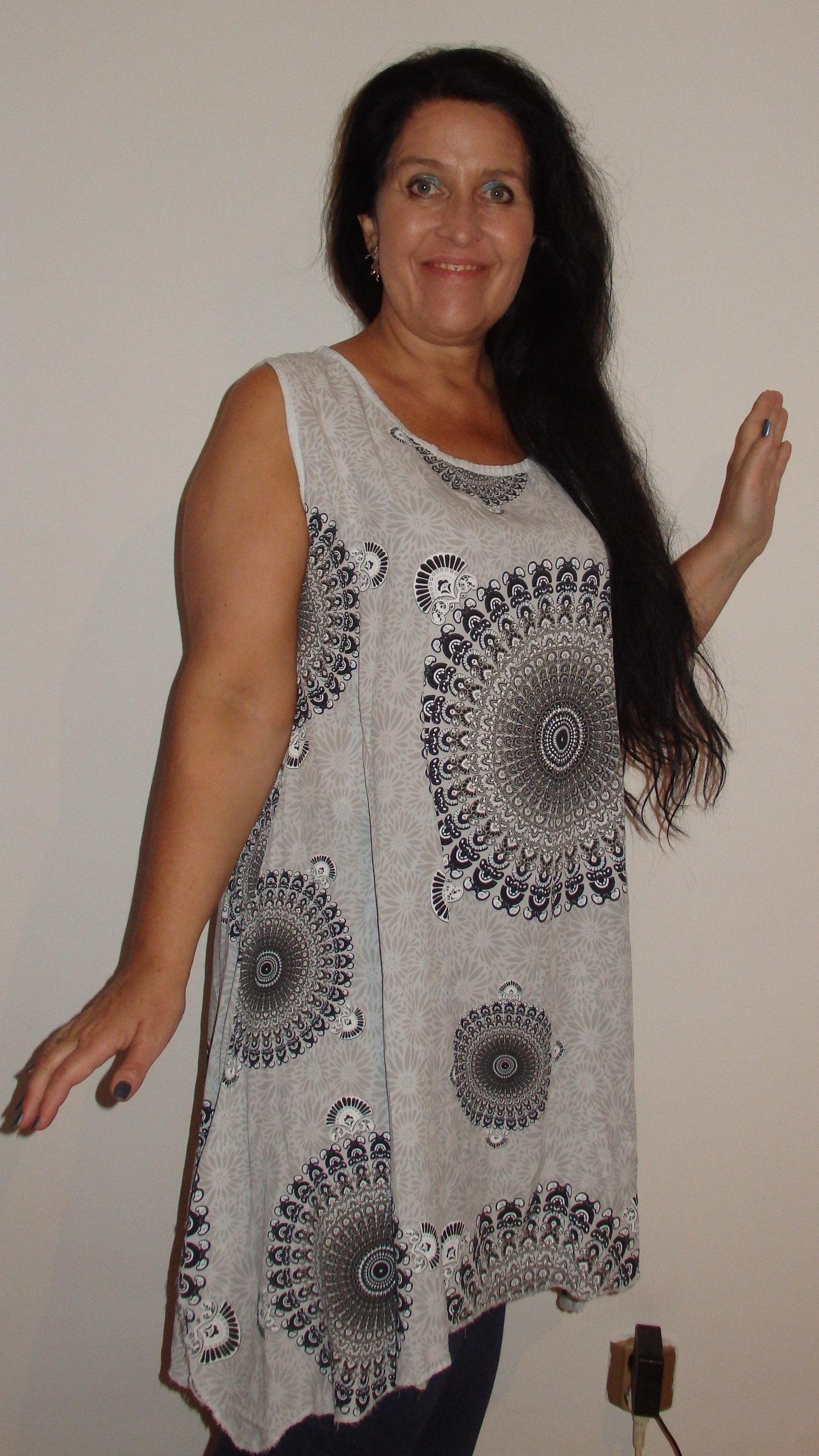 b554474f68 Cudna Sukienka Orientalna z Ażurem 42 44 46 48 50 - 7413834518 ...