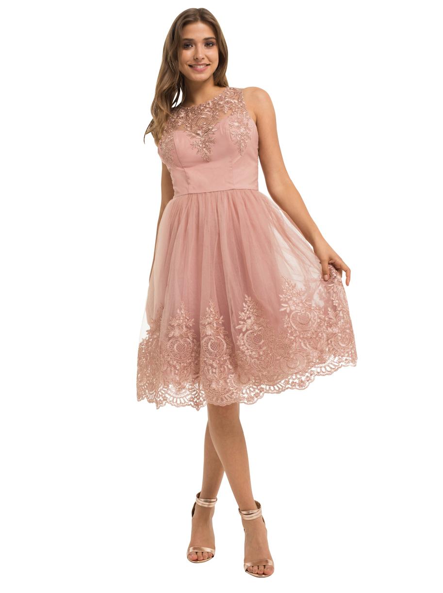 fe9fe8fa57 Chi Chi Shenais Dress sukienka koktajlowa różowa - 7376568595 ...