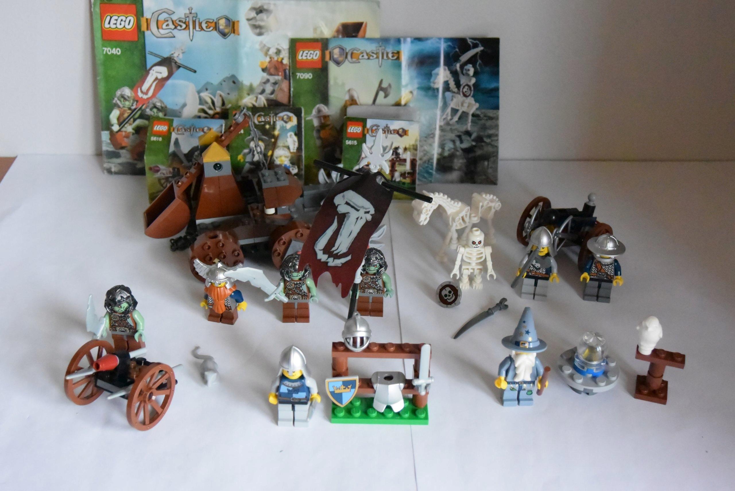 Klocki Lego Castle Mega Zestaw 5szt Troll Rycerze 7408085246