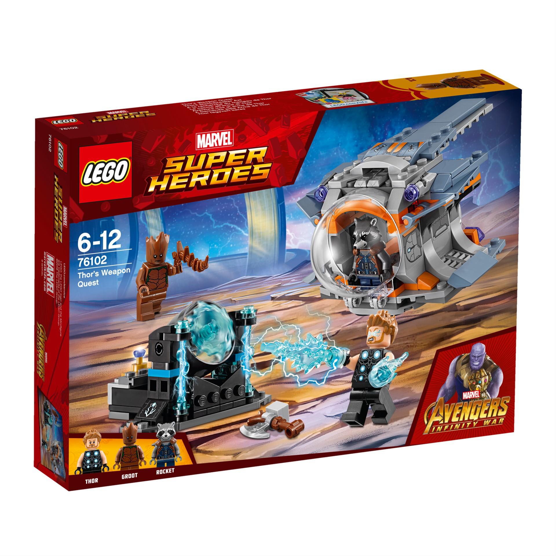 Lego Marvel 76102 Poszukiwanie Broni Thora 7242036593 Oficjalne