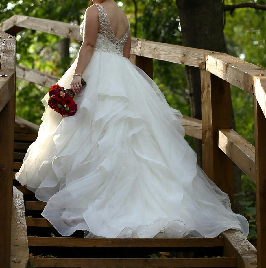 719e8a7926 Suknia ślubna Justin Alexander 9847 r. 40 L IVORY - 7631070136 ...