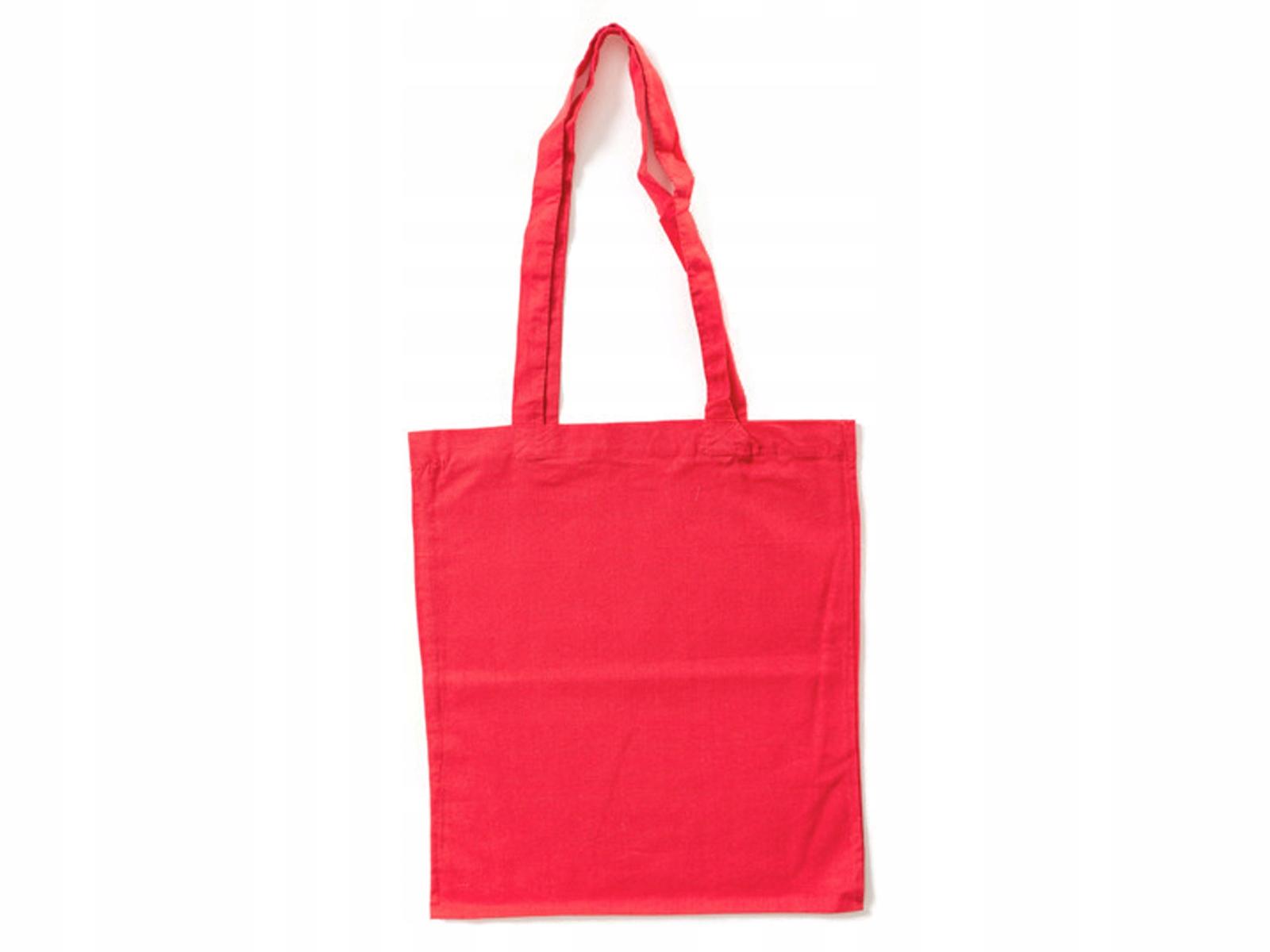 1067f08edc79f T01-5 DUŻA POJEMNA torba bawełniana ECO czerwona - 6944538360 ...