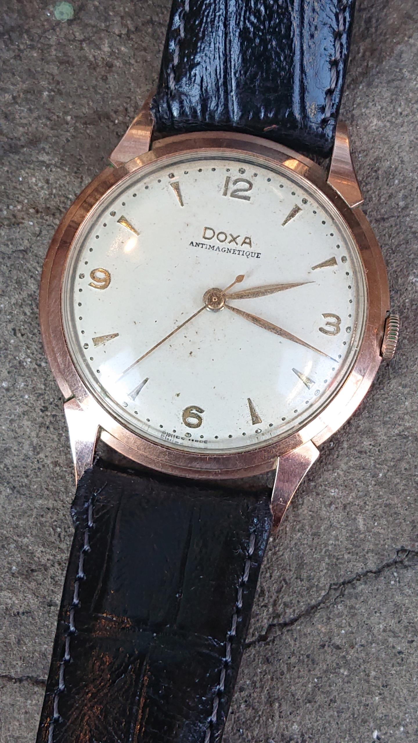 Zegarek Doxa , klaiber 1147, złota 14K