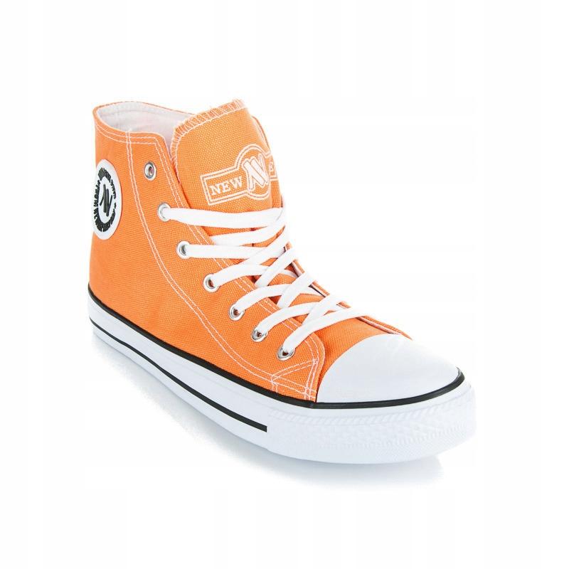 40 WYSOKIE TRAMPKI NEW AGE pomarańczowy gumiaki 7545760626