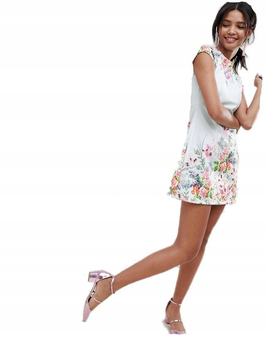 caee4b641b sukienka KWIECISTA midi KOLOROWA 3XL 46 - 7527083807 - oficjalne ...