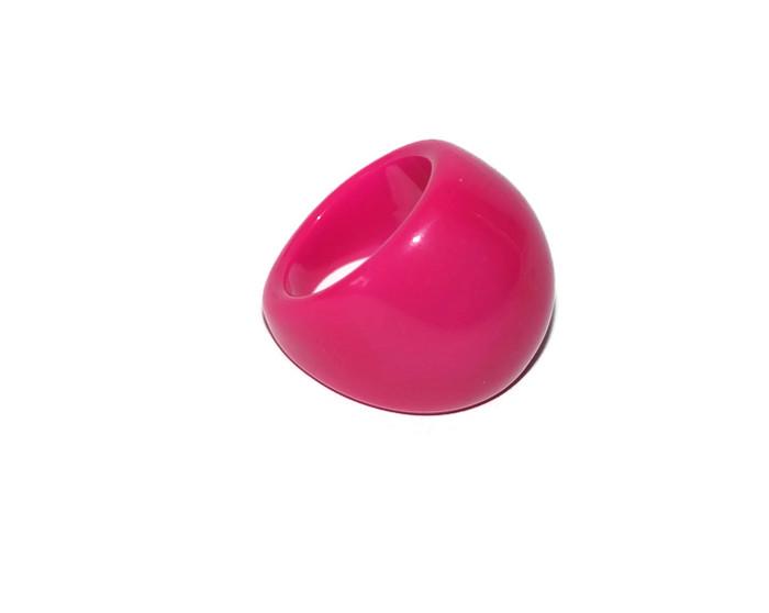 61bbc3561db2f4 Piękny różowy plastikowy pierścionek . - 7052726597 - oficjalne ...