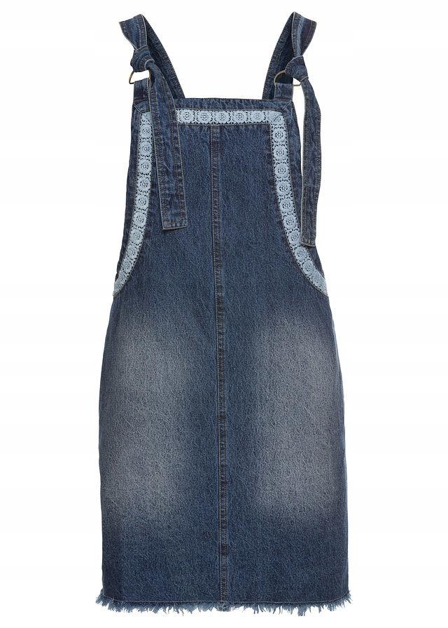 1481177860 Sukienka dżinsowa niebieski 46 3XL 960505 bonprix - 7422100220 ...