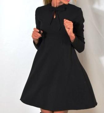 W superbly Rozkloszowana sukienka kokarda pod szyją 36 - 7288203159 VZ81
